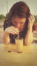 Latte + Straw
